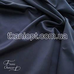 Ткань Хэви сатин стрейч (темно-синий)