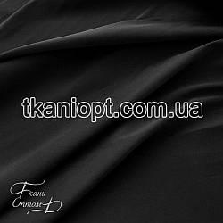 Ткань Хэви сатин стрейч (черный)