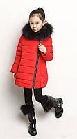 Зимняя пуховая куртка на девочку
