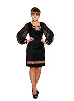 """Сукня вишита чорна """"Меланія"""" розміри в наявності"""