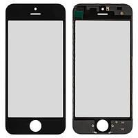 Стекло дисплея iPhone 5 черное (стекло с OCA-пленкой, рамка крепления дисплея в сборе)