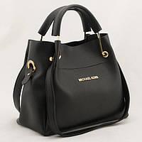 Женская черная mini сумка-шоппер Mісhаеl Коrs (в стиле Майкл Корс) с отстёгивающейся косметичкой