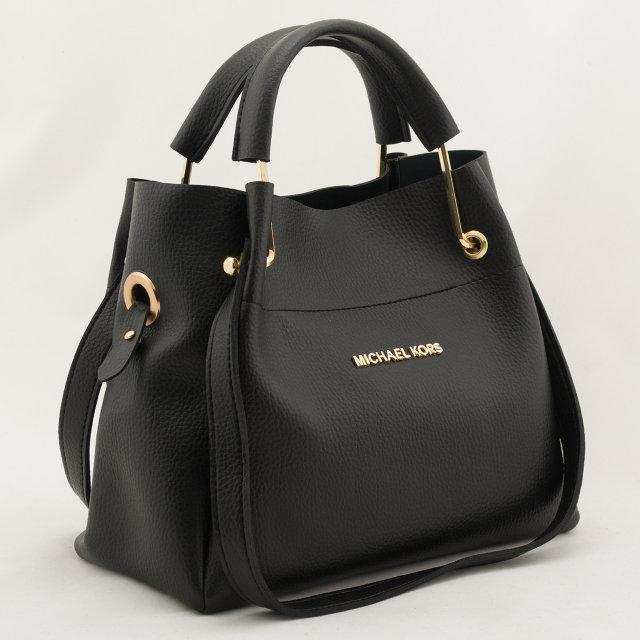 bada347a8754 Женская черная mini сумка-шоппер Michael Kors (Майкл Корс) с  отстёгивающейся косметичкой