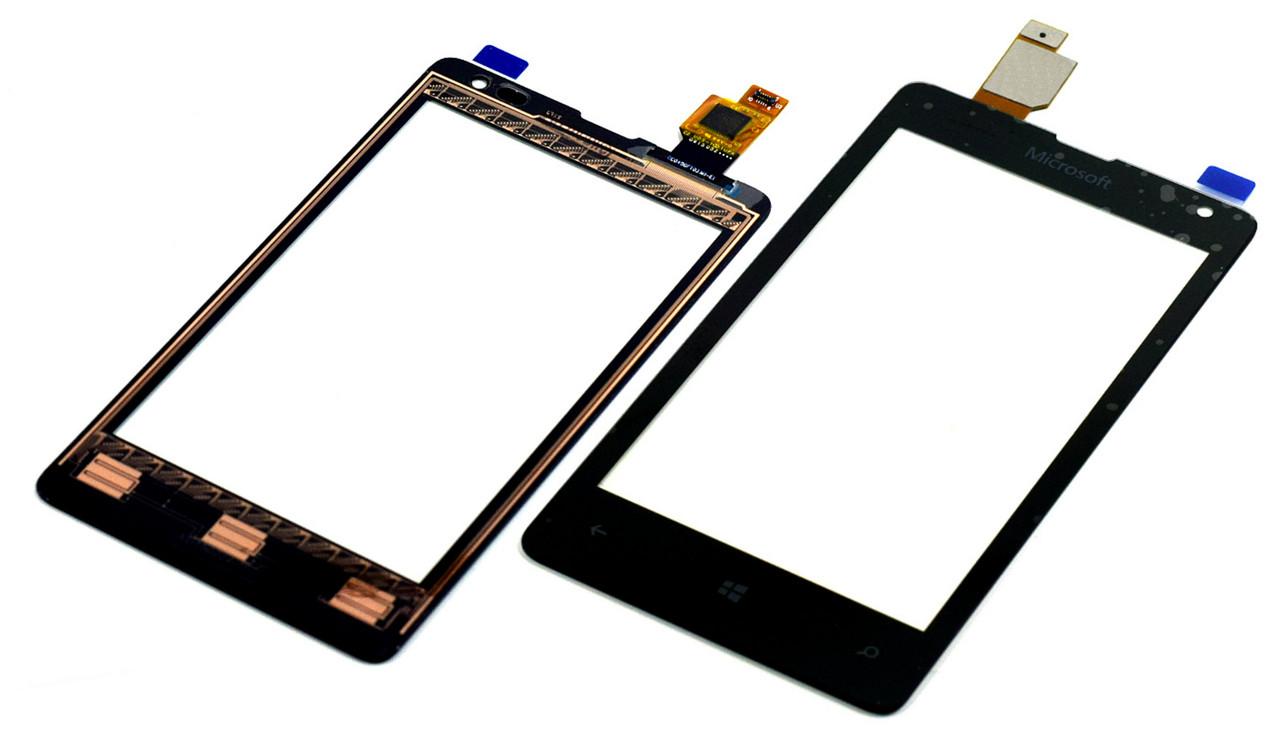 Сенсор Nokia 435/532 Lumia (Microsoft) black h.c.