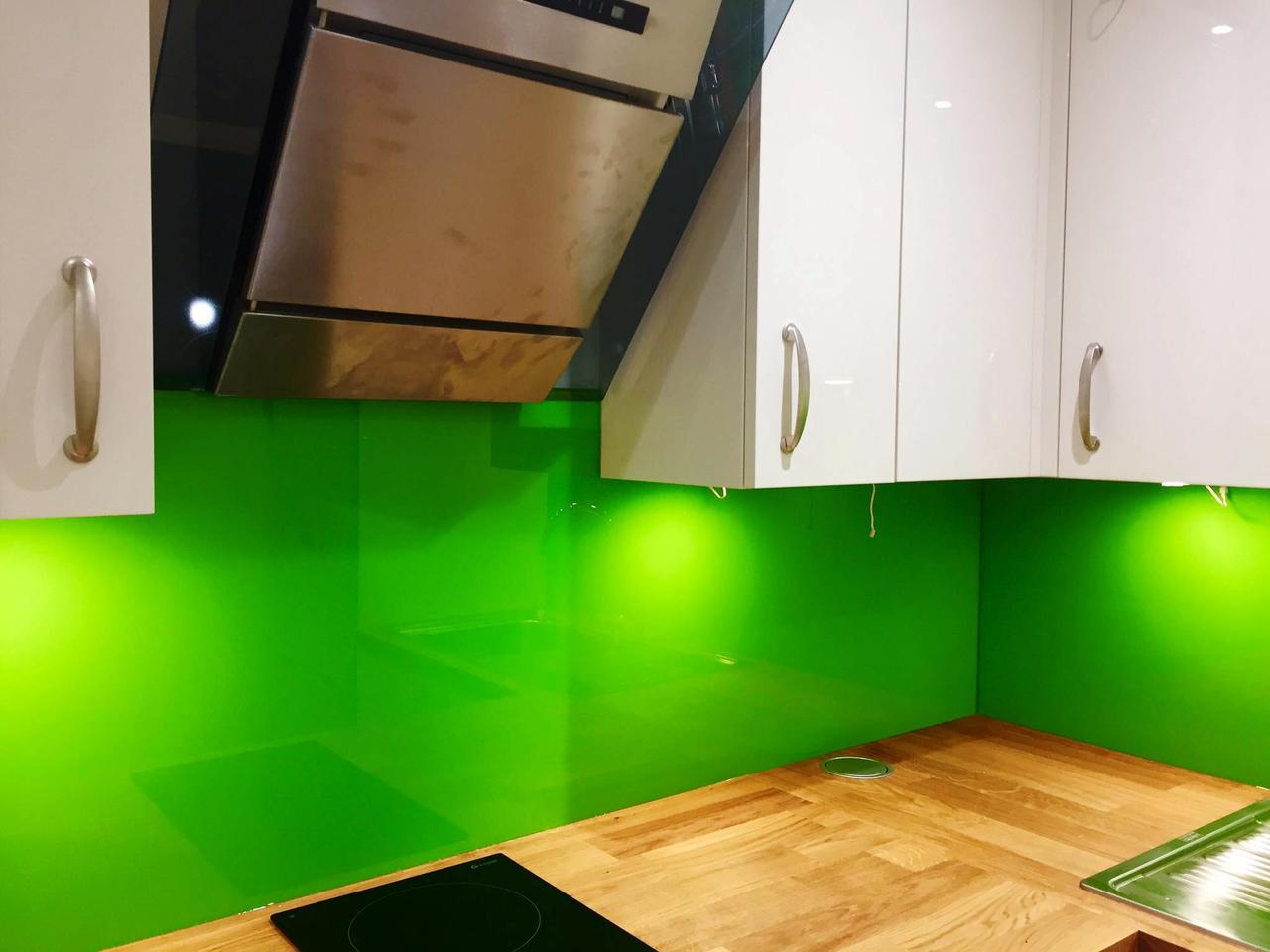 Скинали из однотонного стекла - лакобель зеленый
