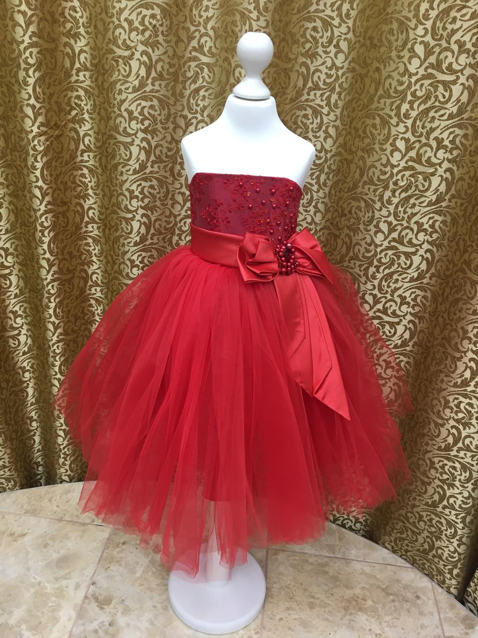 4ef19064dc4 Красное пышное платье для девочки - BAYKAR ДЕТСКОЕ БЕЛЬЕ в Днепре