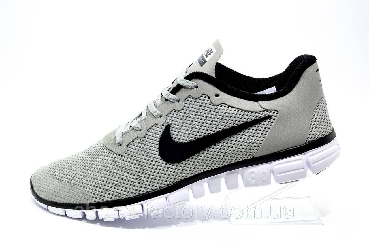 Мужские кроссовки для бега в стиле Nike Free Run 3.0 V2, Gray\Black\White