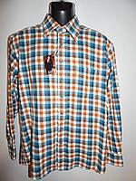Мужская теплая рубашка  длинный рукав Ken Baker  002Pт р.50