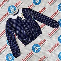 Детские блузки синего цвета для девочек в горошек под резинку Katherine, фото 1