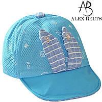 Кепка детская  мальчик (голубой) зайчик   р.48-52см -купить оптом в Одессе