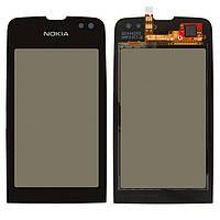 Сенсорный экран Nokia Asha 311 черный (тачскрин, стекло в сборе)