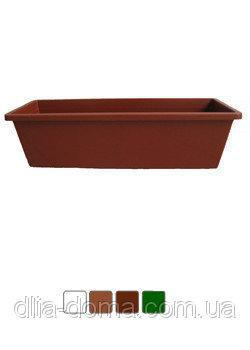 Ящик для цветов, кашпо балконное, длинна 70 см, белая