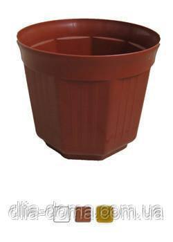"""Горщик для квітів """"Октава"""" , діаметр 17 см"""