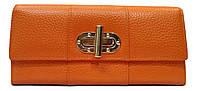 Женский кошелек из натуральной кожи оранжевого цвета UВS-320061