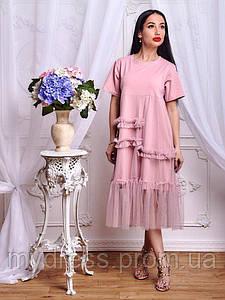 Платье из трикотажного полотна 649