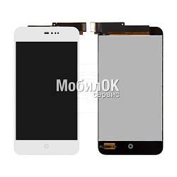 Дисплей для Meizu MX2 белый, с тачскрином