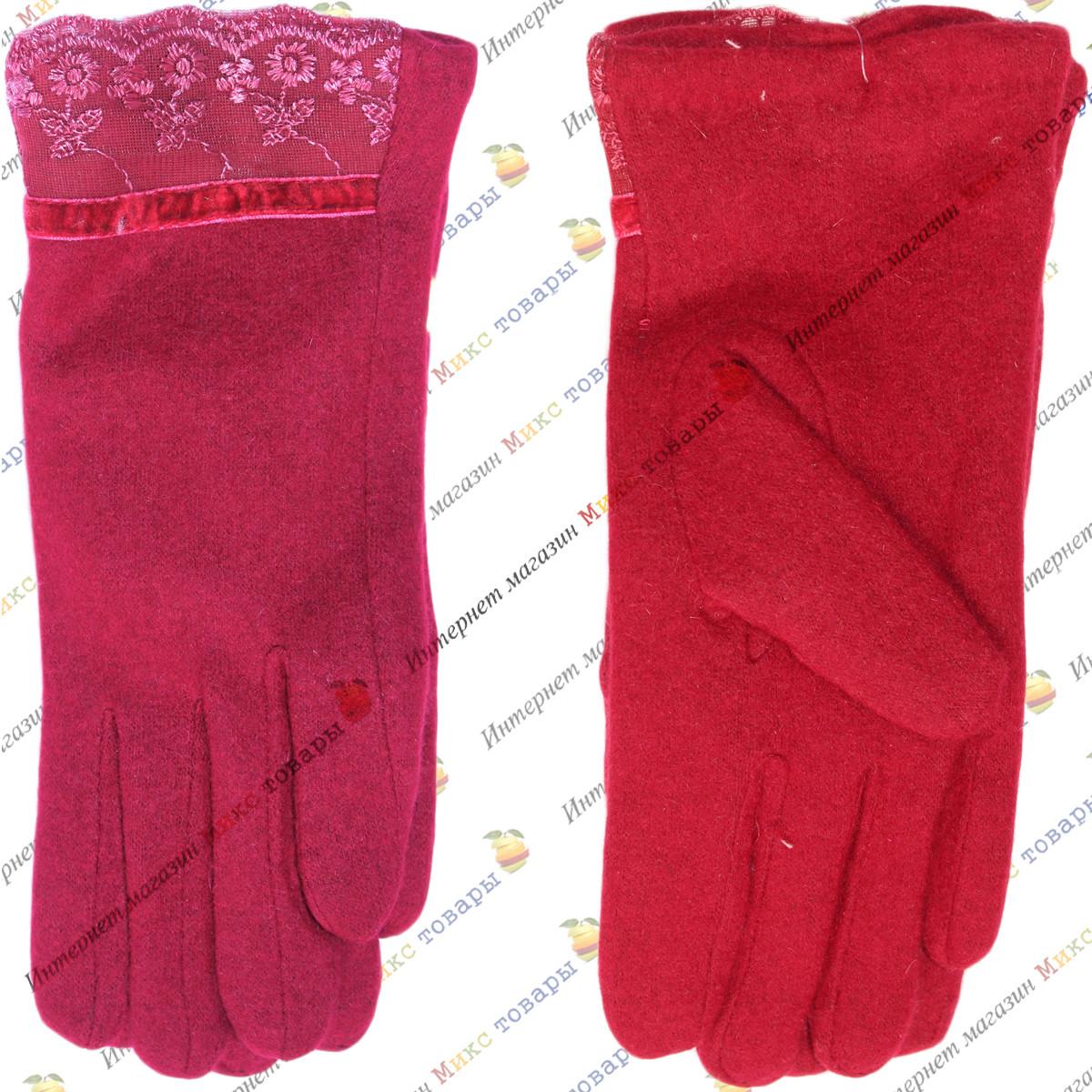 Красные кашемировые перчатки