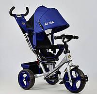 Трёхколёсный велосипед Бест Трайк Best Trike 5700 - 4230 синий. Поворотное сиденье. Колесо пена.