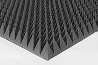 Акустичний поролон Ecosound пірамідка 90мм 1мх1м чорний графіт з акустичного поролону, фото 1