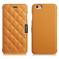 Чехол iCarer для iPhone 6/6S Microfiber Check Brown (side-open) (RIP604) 3445