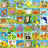 Деревянные Пазлы Животные Большие Цветные Деревянный Пазл WZP, 008428