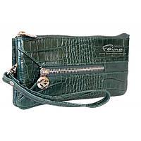 Мужской клатч кожаный зелёный Eminsa 2123-4-16