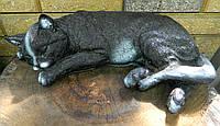 Садово-паркова фігура Кіт сплячий 40 см Садово-парковая фигура Кот спящий