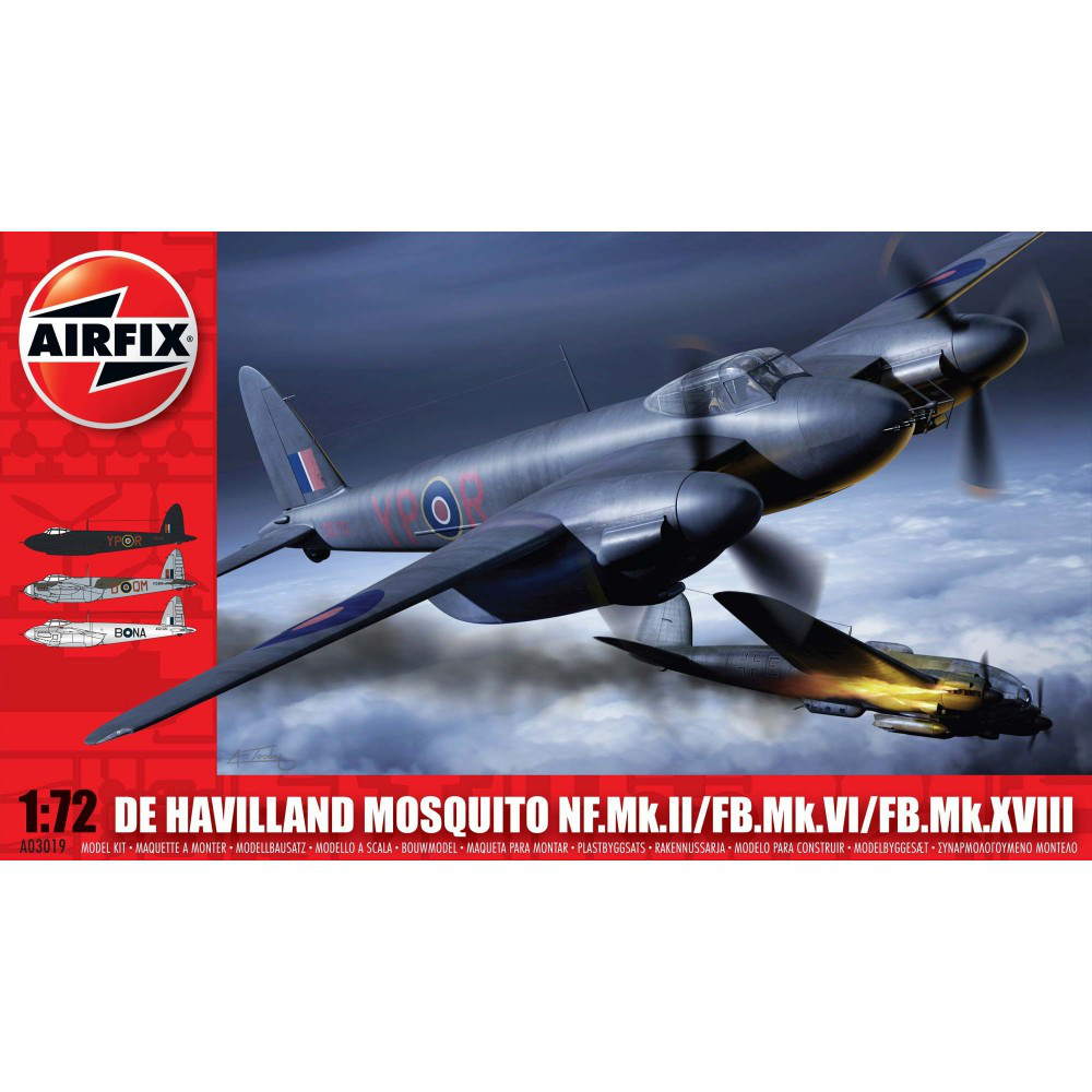 1/72 AIRFIX 03019  MOSQUITO FBVI/NF II/MK XVII - SERIES 3. 1/72 AIRFIX 03019