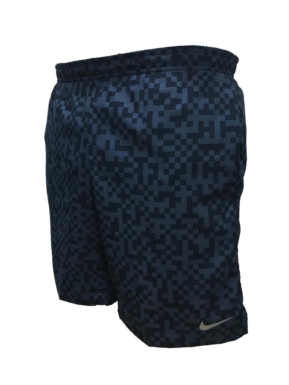 Мужские спортивные шорты  синий графит размер S (Реплика)