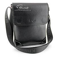 Мужская сумка кожаная чёрная  Karya 0721-45