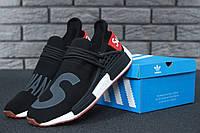 Кроссовки Adidas NMD Human Race Supreme Black Grey, фото 1