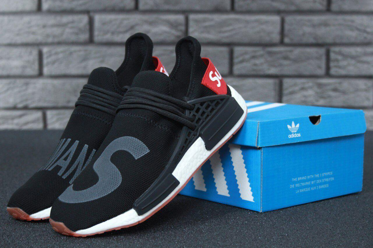 36a82828f2a59 Кроссовки Adidas NMD Human Race Supreme Black Grey - Интернет магазин обуви  «im-РоLLi
