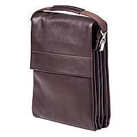 Мужская сумка кожаная коричневая Eminsa 6017-12-3