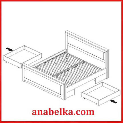 Кровать 160 /180  Антверпен (Gerbor), фото 2
