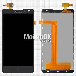 Дисплей для Prestigio MultiPhone 5044 Duo/ Pioneer S90W черный, с тачскрином