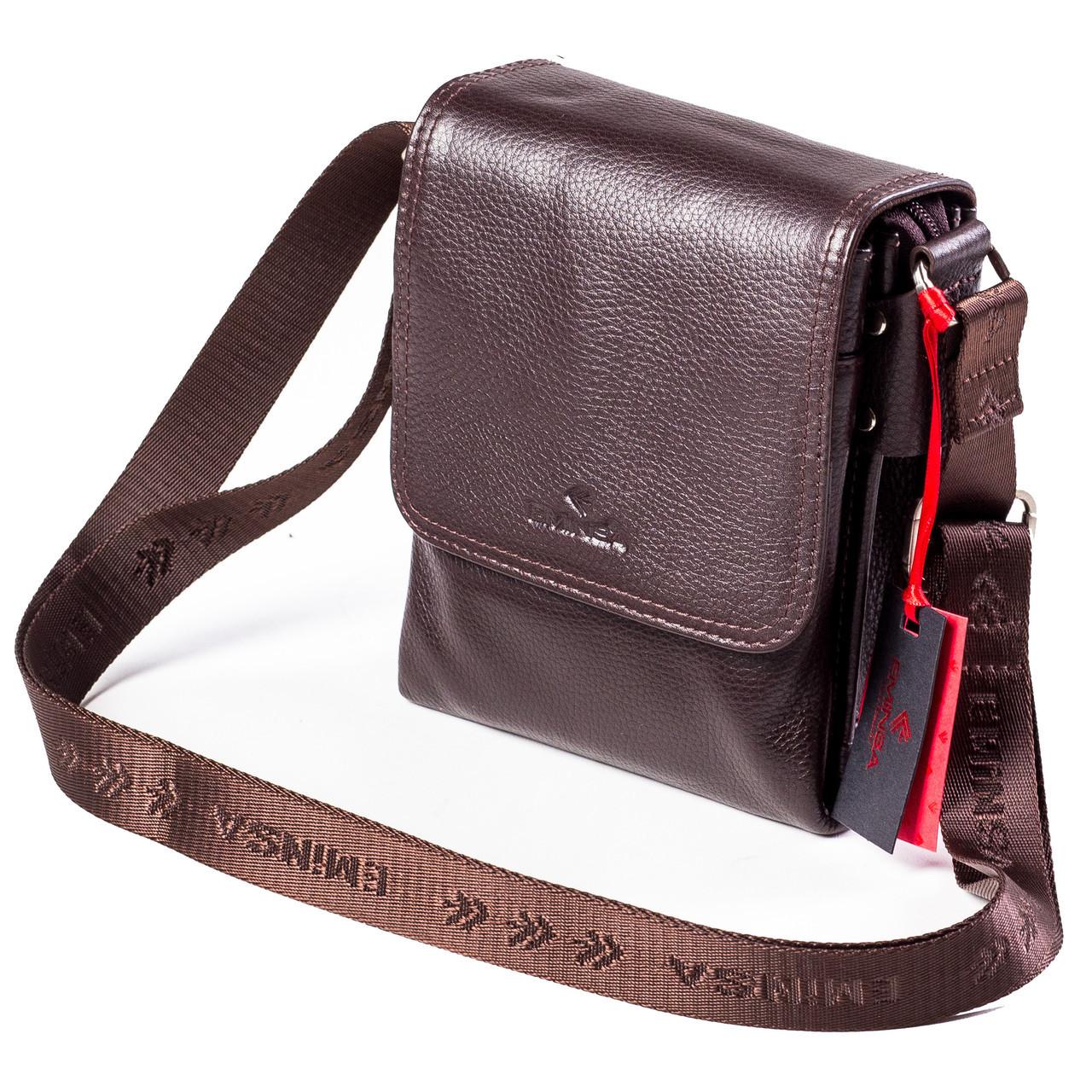 Мужская сумка кожаная коричневая Eminsa 6097-18-3  продаж 427f7d8959095