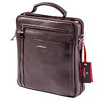 Мужская сумка кожаная коричневая Eminsa 6135-37-3