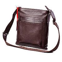 Мужская сумка кожаная коричневая Eminsa 6098-26-3