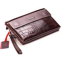 Мужской клатч-барсетка кожаная коричневая Eminsa 5013-4-3 553314c79b0a3