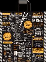 "Пакет с ручками петля ""Бургер"" (38х43+3)80мкм 25шт/упаковка, фото 1"