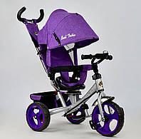 Трёхколёсный велосипед Бест Трайк Best Trike 5700 - 3870 сиреневый. Поворотное сиденье. Колесо пена.