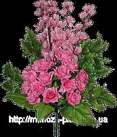 Искусственные цветы - Роза + гладиолус