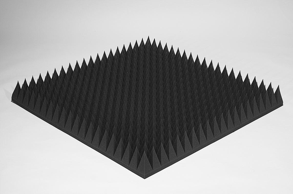 Акустический поролон Ecosound пирамида 120мм 1х1м черный графит