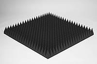 Акустический поролон Ecosound пирамида 120мм 1х1м черный графит, фото 1