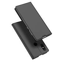Чехол книжка для Xiaomi Mi Mix 2s боковой с отсеком для визиток, DUX DUCIS, темно-серый