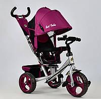 Трёхколёсный велосипед Бест Трайк Best Trike 5700 - 4450 фиолетовый. Поворотное сиденье. Колесо пена.