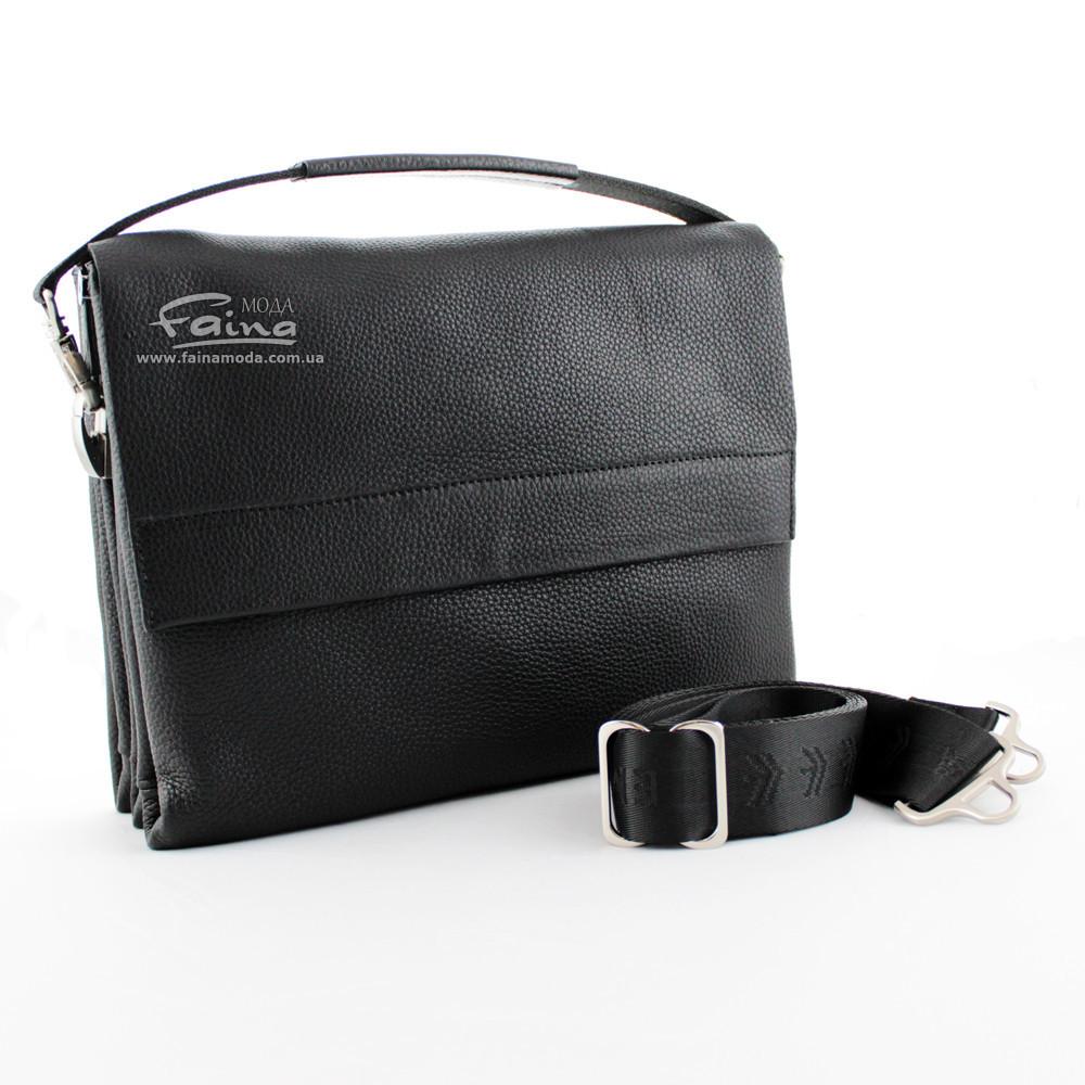 f6c6469ef043 Мужская сумка кожаная чёрная Eminsa 6128-18-1 - Інтернет-магазин