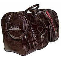 Дорожня сумка шкіряна коричнева Eminsa /Дорожная сумка кожаная коричневая  Eminsa 6541-4-3