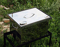 Коптильня из нержавейки с термометром (400х300х280)