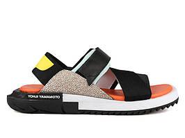 Мужские сандали Y-3 Black and Orange Kaohe Sandal